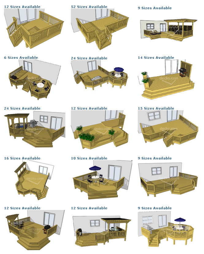 wood ground level deck plans pdf plans
