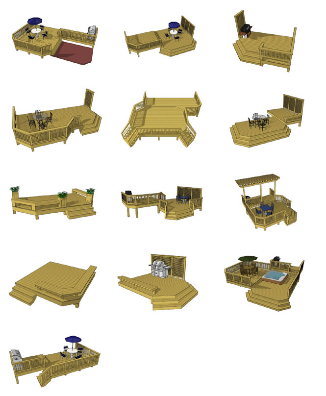 Ground Level Deck Plan Pictures Are Courtesy Of Decks Com To Purchase Plans Please Visit