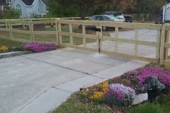 Rail and Wire Fence Project - Raleigh Fence Installation