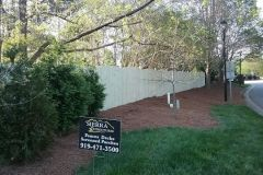 Wooden Privacy Fence - Cary Fence Installation