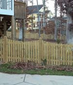 "Dipped, Picket Fence with 6""x6"" Posts"