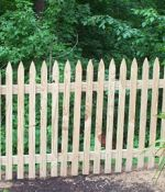 """Thin Cut"" Gothic Picket Fence"