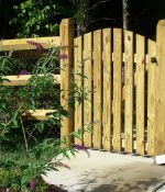 Split Rail Fence With Scalloped Gate
