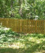 "Gothic Picket Fence with 1""x6"" Pickets"