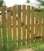 Scallop Picket Fence with Gate