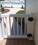 Vinyl Deck Railing with Gate